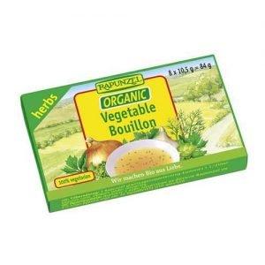 Rapunzel Vegetable Bouillon Cubes Herb 84G