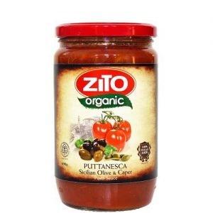 Zito Organic Pasta Sauce Puttanesca (Sicilian Olive & Caper) 690G