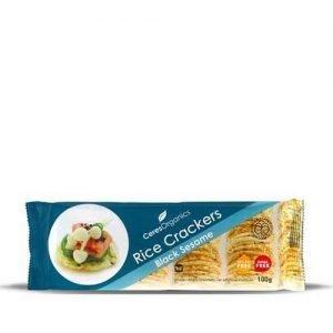 Ceres Organics Rice Crackers Black Sesame 100G