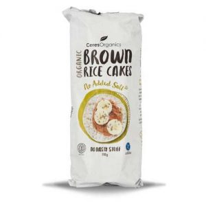 Ceres Organics Brown Rice Cakes No Salt 110G