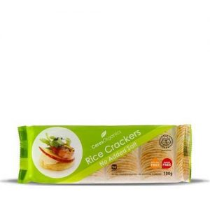 Ceres Organics Rice Crackers No Add Salt 40G