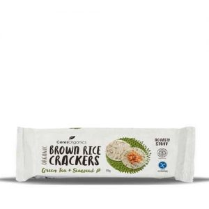 Ceres Organics Brown Riceseaweed Cracker 115G