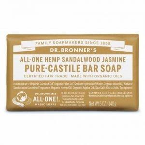 Dr Bronner Bar Soap Hemp Sandalwood Jasmine