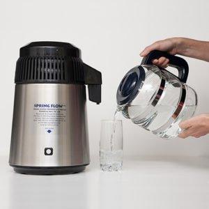 Springflow Stainless Steel Water Distiller 4L + Glass Jug
