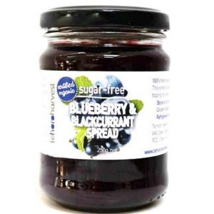 Te Horo Harvest Sugar Free Blueberry & Blackcurrant Spread 250G