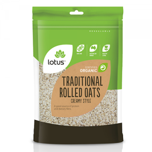 Lotus Traditional Rolled Oats 750G