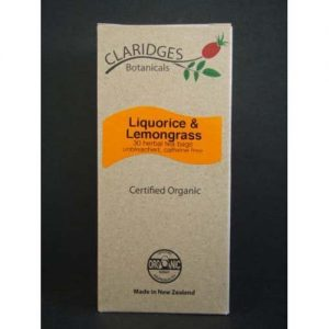 Claridges Botanicals Liquorice Lemongrass 30 Bags