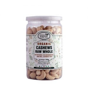 Down To Earth Cashews Raw Whole 250G