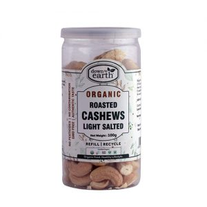 Down To Earth Cashews Roasted Lightsalt 100G