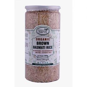 Down To Earth Brown Basmati Rice 850G