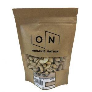 Organic Nation Cashews Whole 150G