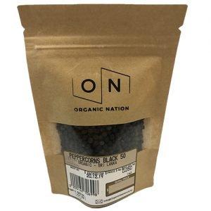 Organic Nation Peppercorns Black 50G