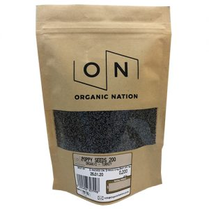 Organic Nation Poppy Seeds Blue 200G
