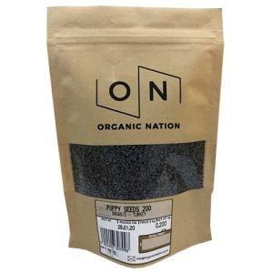 Organic Nation Poppy Seeds Blue 200G