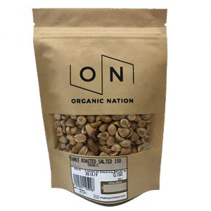 Organic Nation Peanuts Roasted Salted 150G