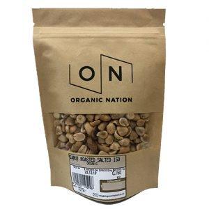 Organic Nation Peanuts Roasted Salted 150G