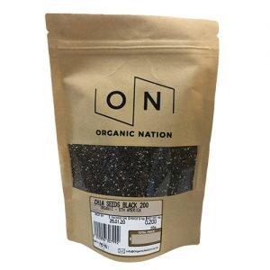 Organic Nation Chia Seeds Black 200G