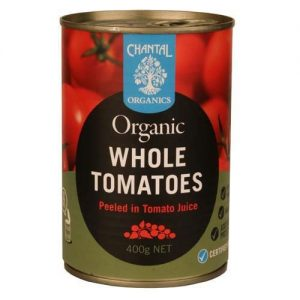 Chantal Organics Tomatoes Whole Peeled 400G