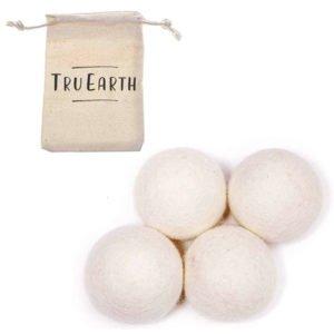 Tru Earth Wool Dryer Balls – Reusable Fabric Softener 4 Pack