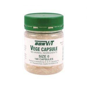Bonvit Empty Vege Caps Size ' 0 ' 140