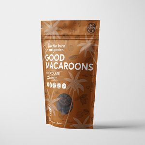 Little Bird Organics Good Macaroons Chocolate & Coconut 125G