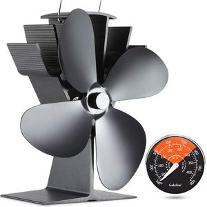 Galafire Heat Powered Fan + Thermometer