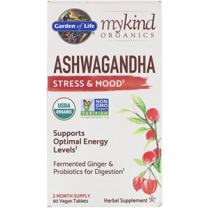 My Kind Organics Ashwagandha Stress Mood 60 Tablets