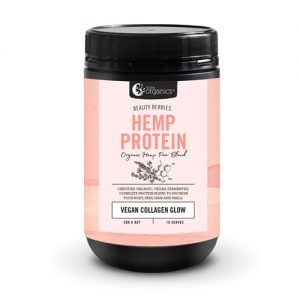 Nutra Organics Beauty Berries Hemp Protein – Vegan Collagen Glow 500G