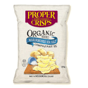 Proper Crisps Organic Potato Crisps with Sea Salt 150g