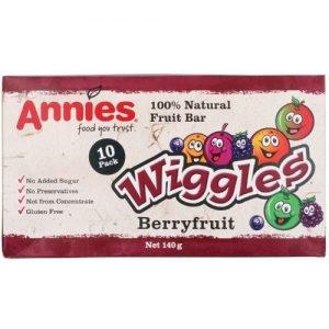 Annies Wiggles Fruit Bars Berryfruit 10 Pack 140G