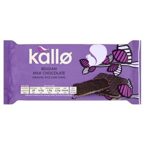 Kallo Milk Chocolate Thin Rice Cakes 90G