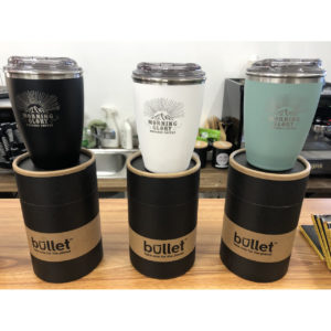 Morning Glory Stainless Steel Twin Wall Reusable Coffee Cups 8oz