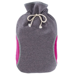 EcoWarehouse Eco Hot Water Bottle 2L – With Cover Pink/Grey