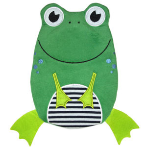 EcoWarehouse Eco Hot Water Bottle Junior 0.8L – With Cover Frog