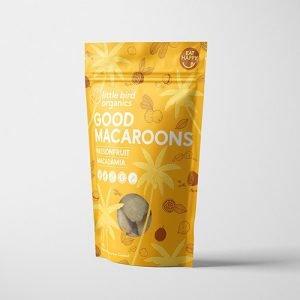 Little Bird Organics Good Macaroons Passionfruit & Macadamia 125G