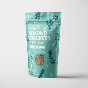 Little Bird Organics Almond Crackers Sea Salt & Thyme 100G