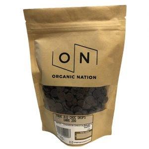Organic Nation Chocolate Drops 70% Dark 200G
