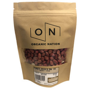 Organic Nation Raw Redskin Peanuts 150G