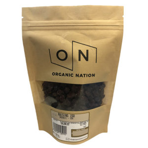 Organic Nation Raisins 150G