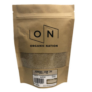 Organic Nation Demarara Sugar 200G