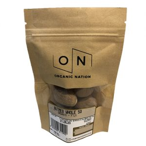 Organic Nation Nutmeg Whole 50G