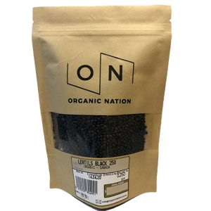 Organic Nation Black Lentils 250G