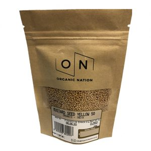 Organic Nation Mustard Seed Yellow 50G