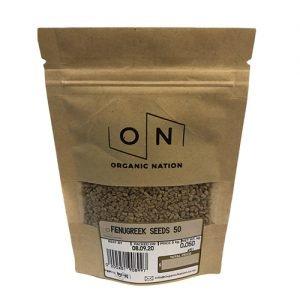 Organic Nation Fenugreek Seeds 50G