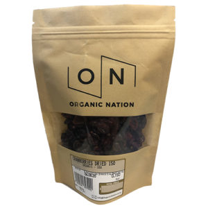 Organic Nation Cranberries Dried 150G