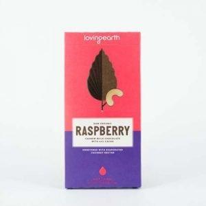 Loving Earth Raspberry Cashew Milk Chocolate 80G